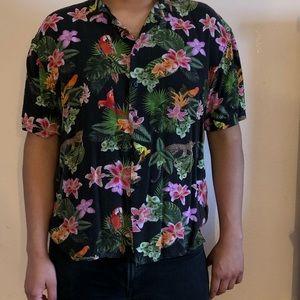 Men flowery shirt